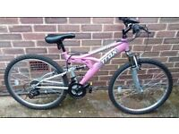 Ladies bike . Girls bike . Mountain bike . Bike .26 inch wheel