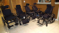 Tilt-In-Space Wheelchair with Roho Cushion for sale