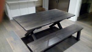 Reclaimed Barn Wood Harvest Table 5, 6, 7 and 8 foot sizes