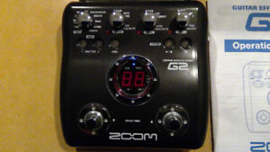 ZOOM Guitar multi-effects pedal Model G2  !!  Mint +++