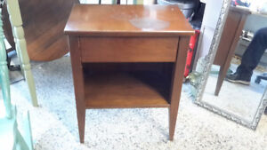 SINGLE DRAWER WALNUT STAND ONLY $19.00 277 MONTREAL ST