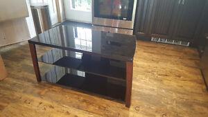 meuble de tv en verre