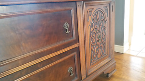 Antique hutch/buffet. 100% solid wood.