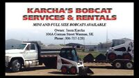 Bobcat mini 3ft wide and full sizes available