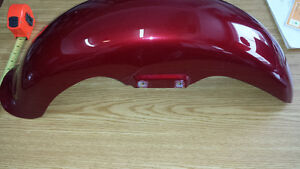 Fenders ailes red harley davidson front 165MM West Island Greater Montréal image 4