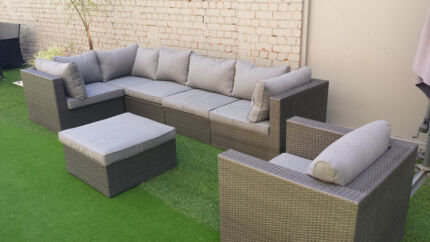 Natural Look Rattan Outdoor 7pcs Sofa Set Adelaide Region Preview