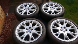 "Volvo 18"" Nebula alloys and tyres"
