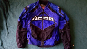 Icon Contra Riding Motorcycle Jacket (Large)