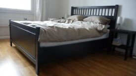Hemnes kingsize bed and morgedal foam mattress like new condition