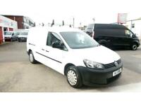 2011/11 VOLKSWAGEN CADDY 1.6TDi 102ps MAXI WHITE NO VAT CHEAP WHITE DIESEL VAN