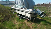 14 Foot Fibreglass Boat with Trailer