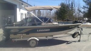 legend boat with 75 hp 4 stroke outboard