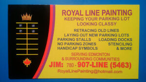 ROYAL LINE PAINTING – KEEPING YOUR PARKING LOT LOOKING CLASSY