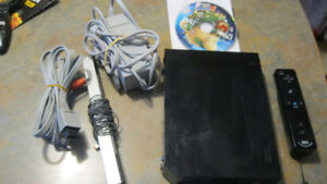 Nintendo Wii RVL-101 black console With Motion Plus Controller b