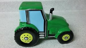 Porcelain Tractor Truck Piggy Bank, From F.A.B. Starpoint