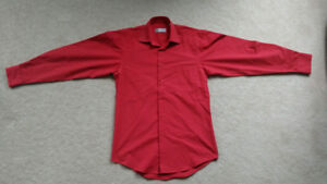 Enrico Carlucci Long Sleeve Dress Shirt, 14-1/2 in. Regular