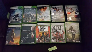 XBOX 360 Games & accessories including Halo, Guitar Hero, etc