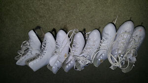 4 pairs of girls figure skates for sale. Sizes 13-2 Gatineau Ottawa / Gatineau Area image 1