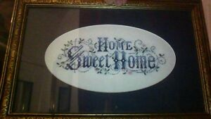 """""""HOME SWEET HOME"""" needlepoint in excellent condition"""