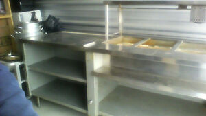 Steel steam table Almost 8 ft long