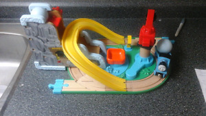 Wooden Thomas the Train Quarry set with two connectors