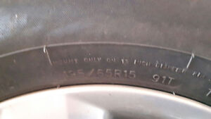195/65R15 Mazda 3 Tires with Rims