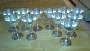 11 Silver plated Goblets