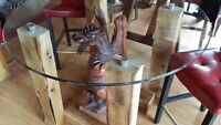 Carved Dragon Pub style Table!!!