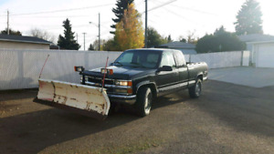 1998 chev 1500 snow plow truck