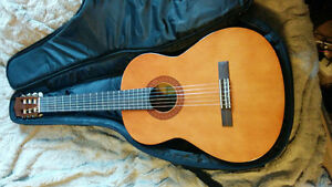 Yamaha Guitar w/Case and Folding Stand