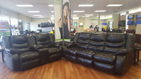 ASHLEY LINEBACKER BLACK REC SOFA/LOVE (51179735)