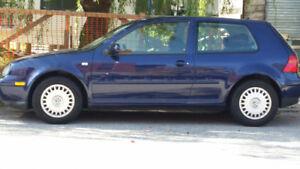 2002 Blue Volkswagen Golf Hatchback Automatic 2-dr.