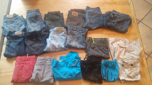 BOYS SIZE 12 OR 26 WAIST PANTS AND SHORTS