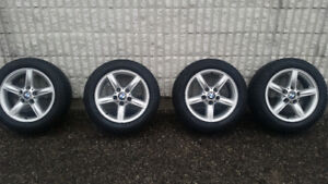 Bmw rims + Winter tires for sale