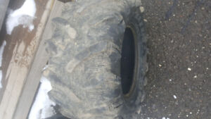 atv tires used 27-10-12 and 27-12-12  there are no holes tires