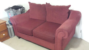 Red Sofa / Loveseat - Whitby - Pick-up only