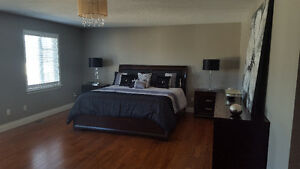 Espresso colour king bedroom set