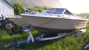22' Boat with Trailer! Make your offer!