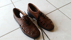Brand New Leather Chocolate Ladies Shoes - Size: 9.5