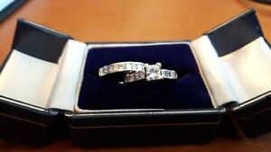 14ct White Gold,1.5ct Diamond Count Wedding & Engagement Set