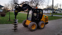Skid steer and mini hoe services