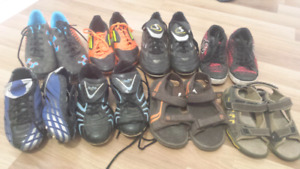 Cleats..sandels and sneakers
