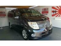 Nissan Elgrand e51 2.5 automatic 8 seater black MPV 2wd +4wd fresh import 06