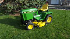 John deere 316 with 52 inch cut