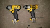 Dewalt 12 Volt Impact Drive and Screw Driver (Bare Tools)