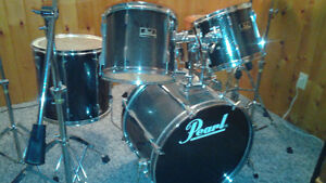 Pearl Export drum kit with Sabian cymbals