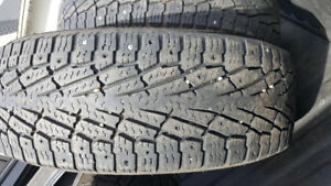 Nokian hakapaletta LT2 275 60r20 set of 4 studded winter tires