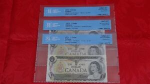1973 Bank of Canada $1 Replacement Note CCCS Certified UNC-67