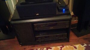 Black swivel top tv stand