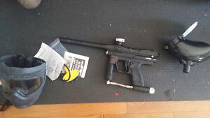 Full paintball set brand new only 200 rounds shot.